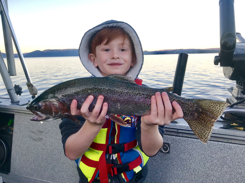 Lake Almanor Rainbow Trout. www.bigdaddyfishing.com